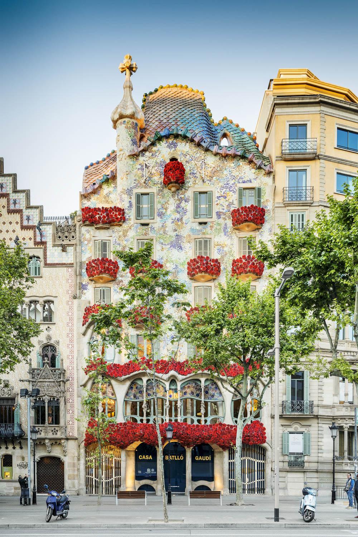 Fachada de la casa Batllò en Barcelona