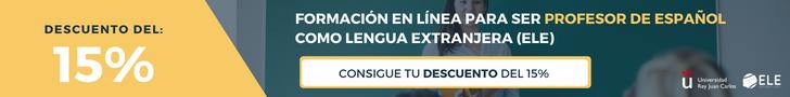 Banner del curso para ser profesor de Español con descuento