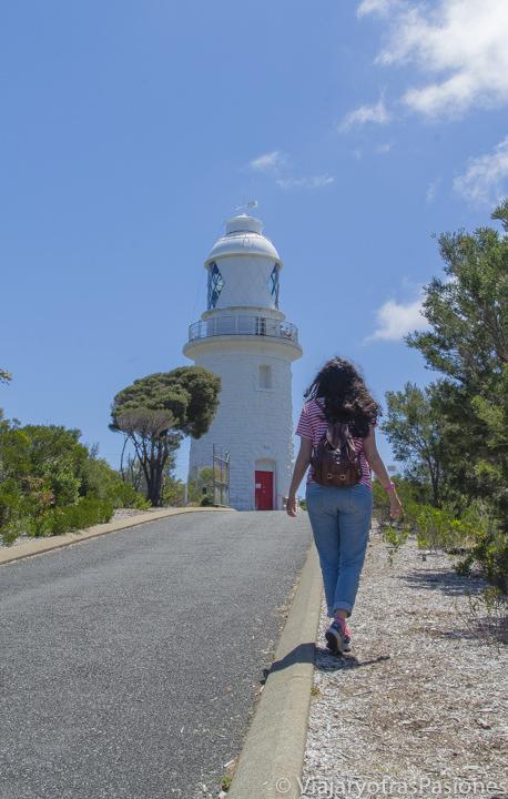 El faro de Cape Naturaliste en la Margaret River Region en el viaje a Perth y Western Australia