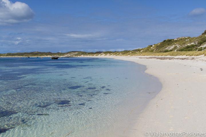 Hermosa playa en Rottnest Island, cerca de Perth en Western Australia