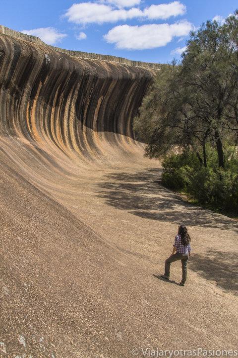 Impresionante Wave Rock en el viaje a Perth y Western Australia