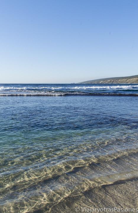 Agua transparente en la Margaret River Region en el viaje a Perth y Western Australia