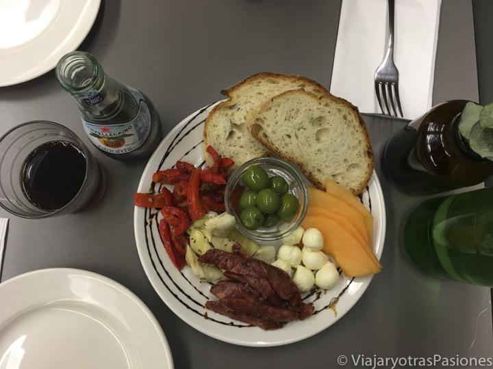 Sabrosa comida en un restaurante de Perth, en el barrio de Northbridge, en Western Australia