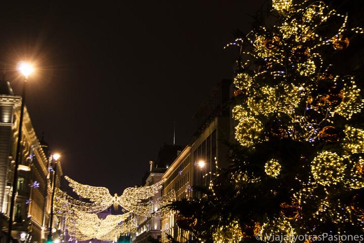 Luces navideñas en Regent Street, Londres