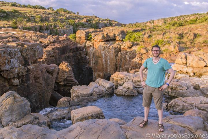 Retrato en los Bourke's Luck Potholes, en el Blyde Canyon, Sudáfrica