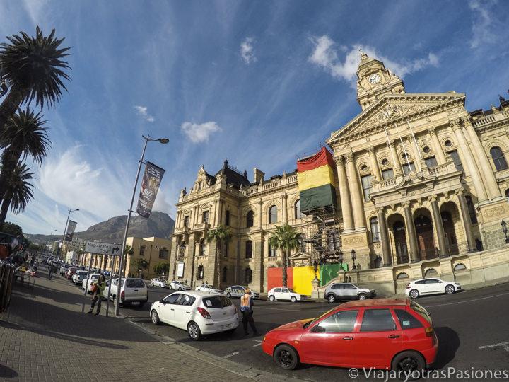 En la Gran Parade frente a la City Hall donde habló Mandela en Ciudad del Cabo en Sudáfrica