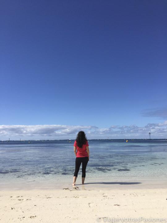 Increíble playa en visitar Rottnest Island en Perth en Western Australia