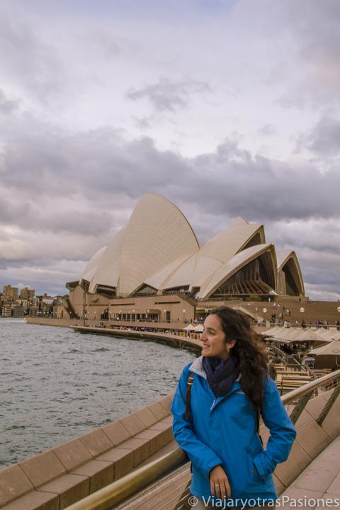 Bonita vista de la famosa Ópera de Sydney, Australia