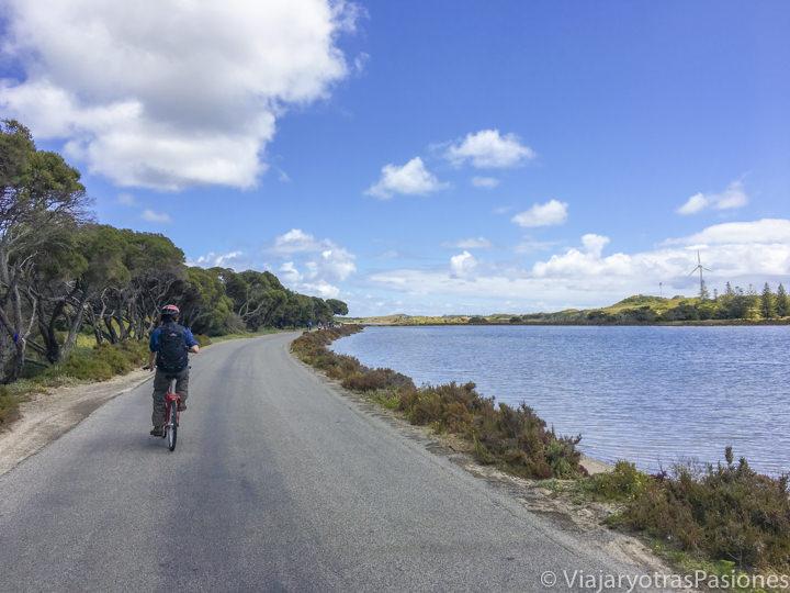 Bonita vista de los lagos en Rottnest Island cerca de Perth y Freemantle