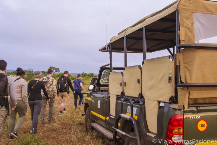 Comienza el walking tour en el medio del parque Kruger en Sudáfrica