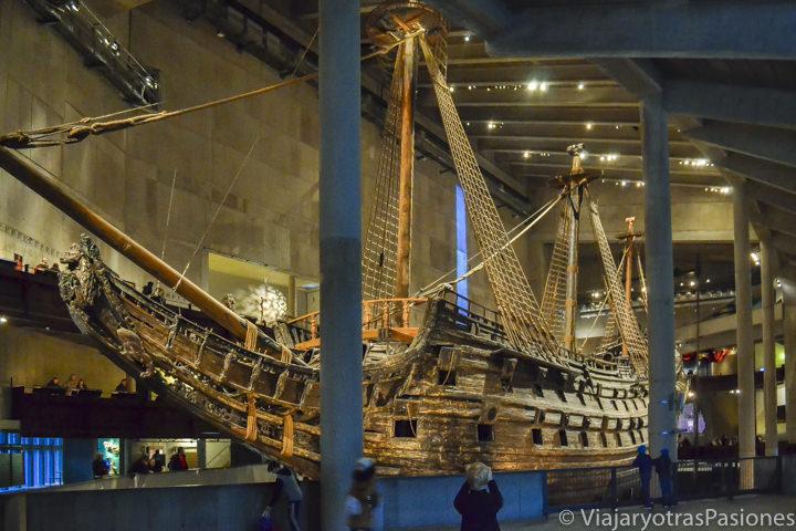 Interior del museo Vasa, Estocolmo