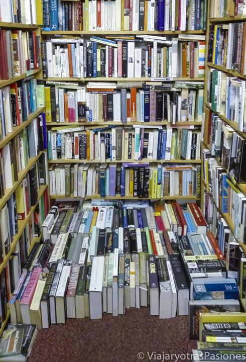 Interior de Skoob Books en las mejores librerías de Londres en Inglaterra
