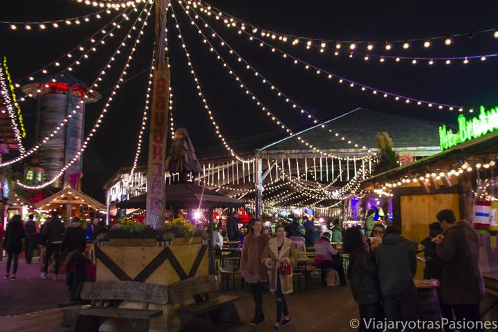 El Bavarian Village de Winter Wonderland, la feria navideña de Londres en Inglaterra