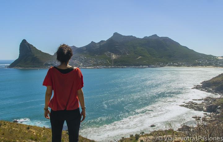 Panorámica de Hout Bay, en la Península del Cabo, Cape Town, Sudáfrica