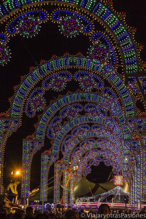 Increíbles luces de Navidad en Londres en Winter Wonderland en Inglaterra