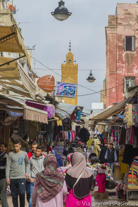 Vista de la medina de Rabat en un día en Marruecos
