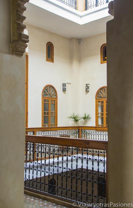 Patio interior del Riad Sakina en Rabat en Marruecos