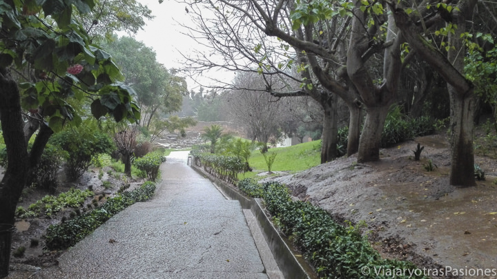 Camino en la necropolìs de Chella en Rabat en Marruecos