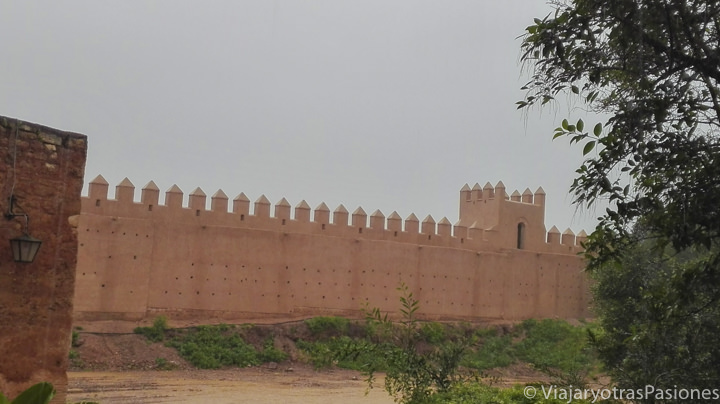 Muralla de la Necropolís de Chella en Rabat en Marruecos