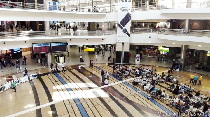 Sala del aeropuerto de Johannesburgo en Sudáfrica
