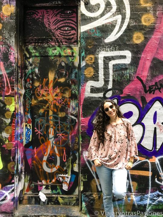 Imagen de street art en las famosas lanes de Melbourne, Australia