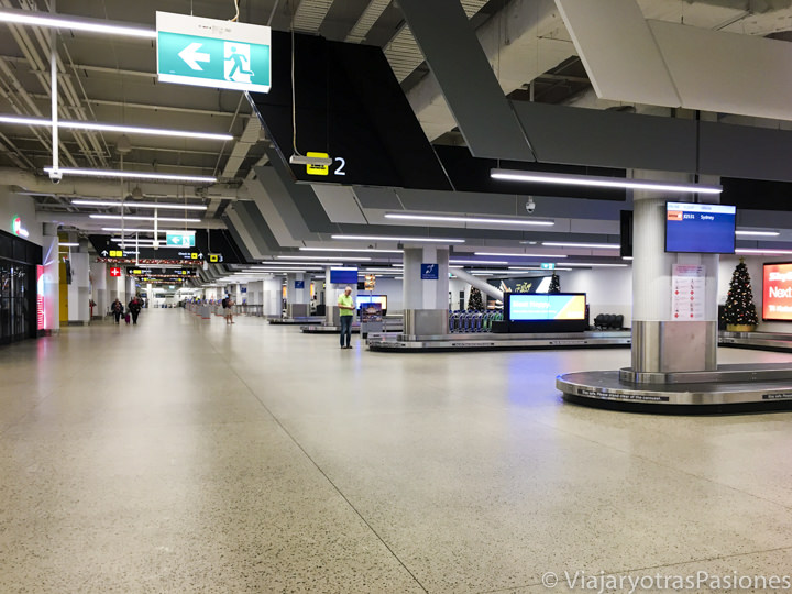 Sala de las llegadas en el aeropuerto Tullamarine de Melbourne en Australia