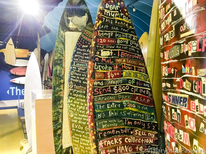 Tablas de surf en el museo del Surf en Torquay en la Great Ocean Road en Australia