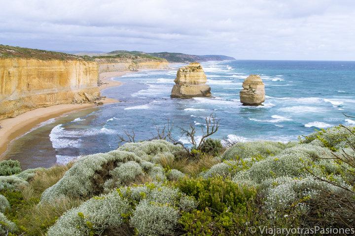 Vistazas en el parque de los Doce Apóstoles en recorrer la Great Ocean Road en Australia