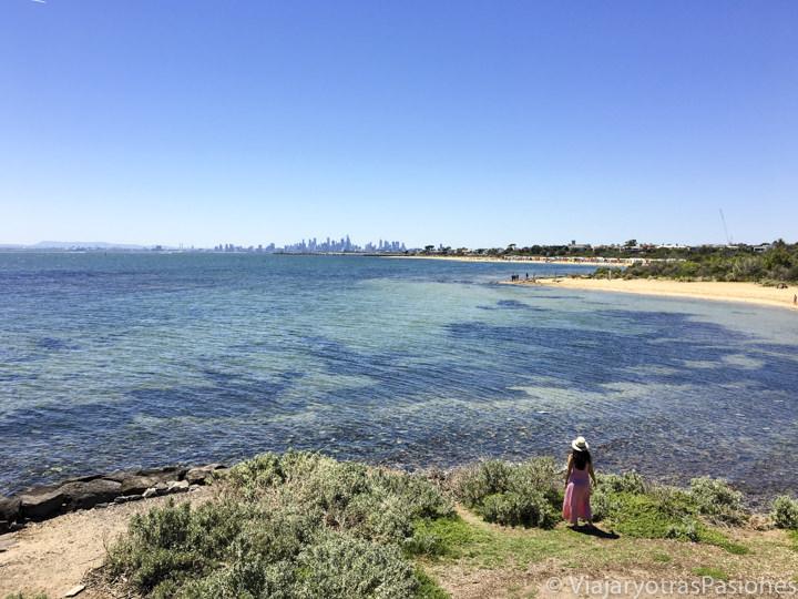 Increíble panorama cerca de Brighton Beach en el viaje a Melbourne y Victoria en Australia