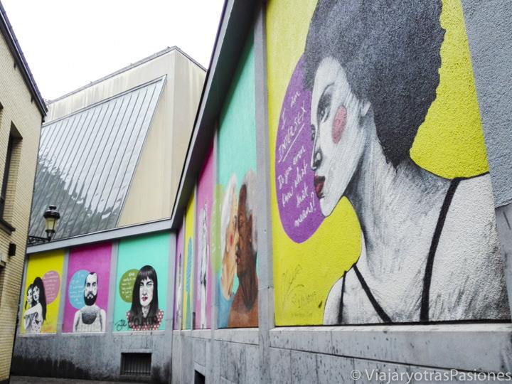 Parte de la ruta del comic de Bruselas, Belgica