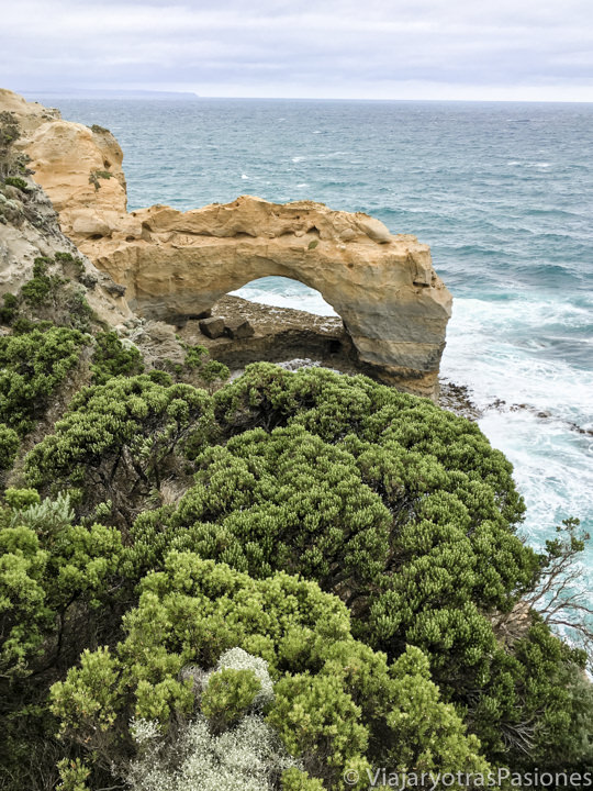 Vista de The Arch, uno de los miradores de la Great Ocean Road en Australia