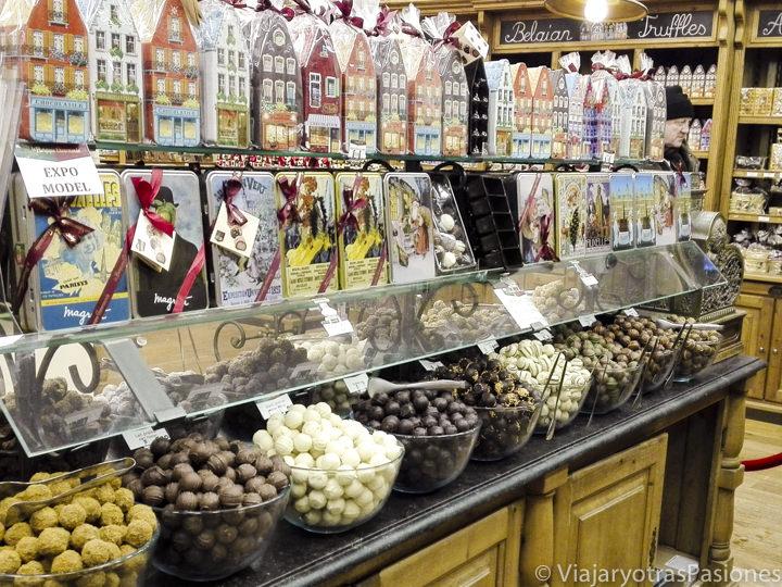 Imagen del delicioso chocolate de La Belgique Normande, en Bruselas