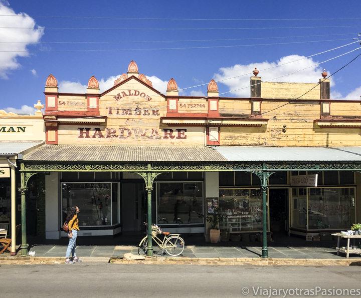 Monísima tienda en el pueblo de Maldon en el viaje a Melbourne y Victoria en Australia