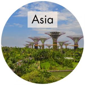 Panoramica en el Gardens by the Bay en Singapur