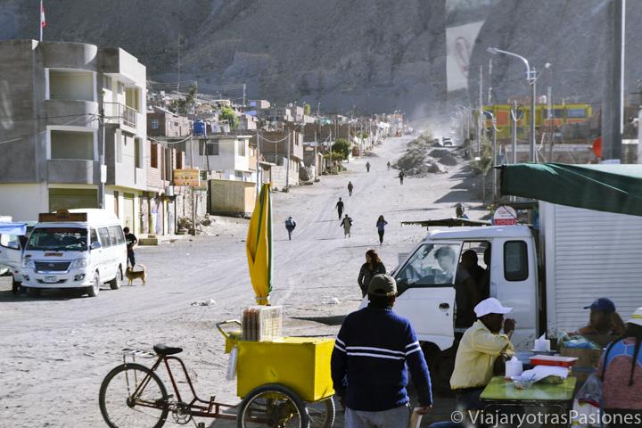 Barrio suburbano de Arequipa en Perú