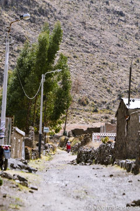 Callecitas en el pueblo de Chivay en el Cañón del Colca en Perú