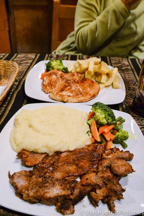 Comida sana en la ciudad de Arequipa para combatir el mal de altura en Perú