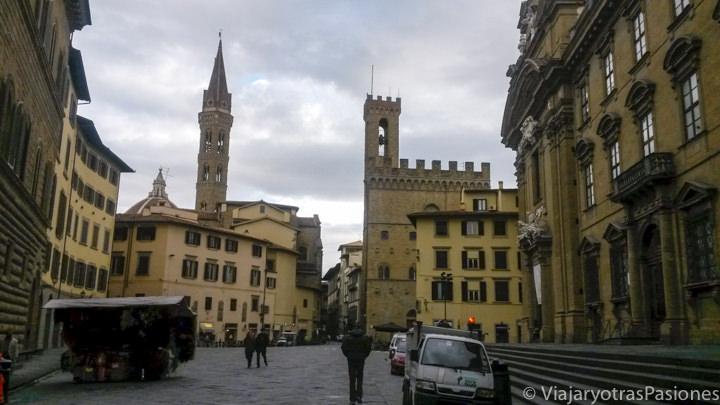 Panorámica de las calles del centro de Florencia, Italia