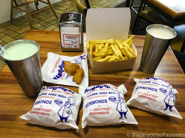 Las míticas hamburguesas de Kermonds en Warrnambool en el estado de Victoria en Australia