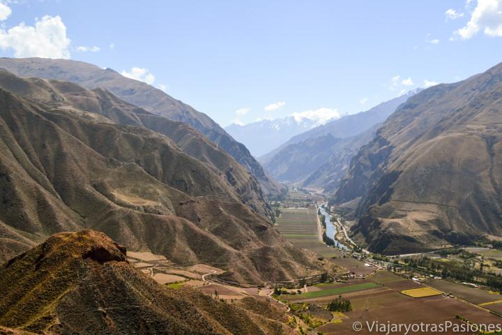 Imagen panorámica del Valle Sagrado de los Incas, en Perú