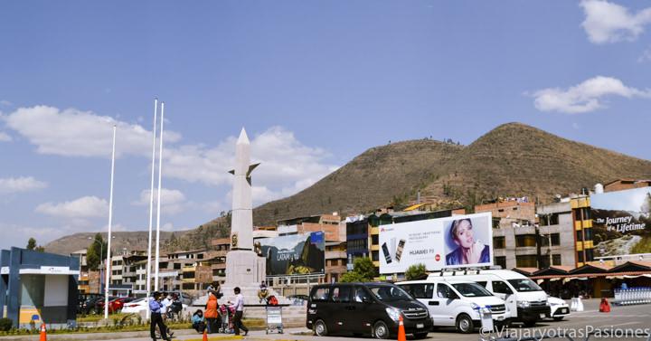 Vista a las llegadas del aeropuerto de Cuzco en Perú
