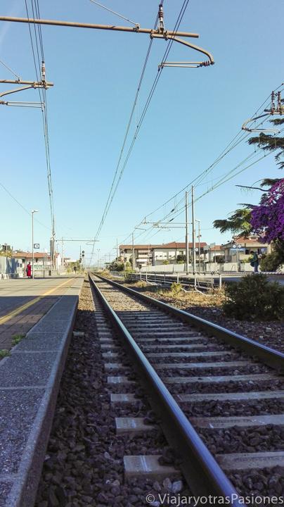 Via del tren en Italia para ir en transporte publico a Florencia desde Roma