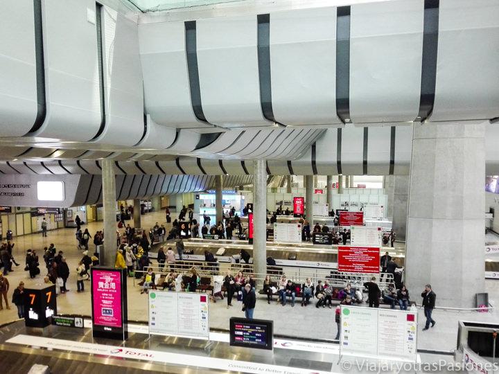 Recogida de las maletas en el aeropuerto de San Petersburgo en Rusia