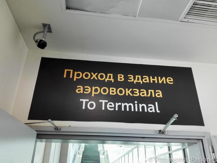 Aeropuerto de San Petersburgo antes de tramitar el visado de Rusia