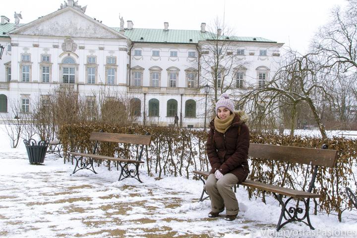 Panorámica del parque y palacio Krasinski en Varsovia, en Polonia