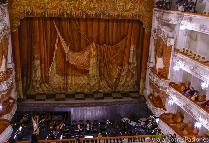 Patio de butacas del teatro Mikhailovsky, en San Petersburgo