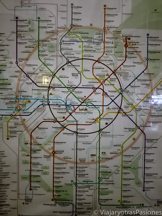Foto de la mapa del metro de Moscú en Rusia