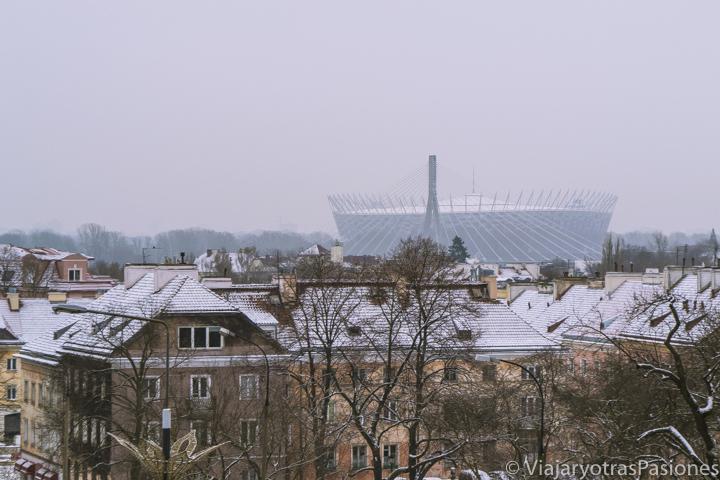 Bonito paisaje del centro de Varsovia en Polonia