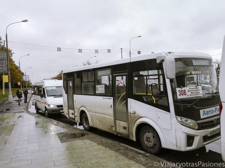 Buses para ir a Moscú desde el aeropuerto en Rusia cerca de la estación Domodedovskaya