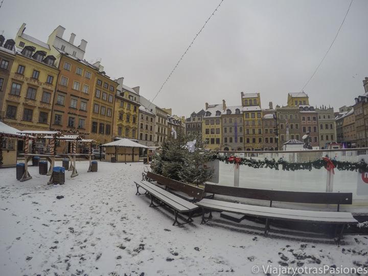 Panorámica de la Plaza del Mercado en Varsovia, Polonia